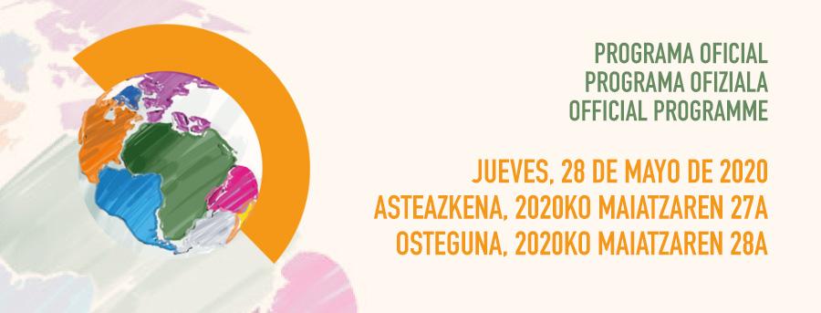 Jueves, 28 de mayo de 2020 - Programa oficial